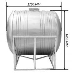 Емкость для воды 2,0 м3 горизонтальная