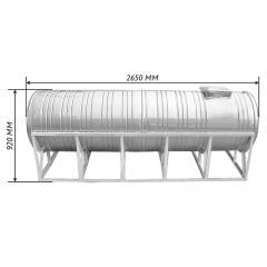Емкость двойная для воды 1,0 м3 горизонтальная