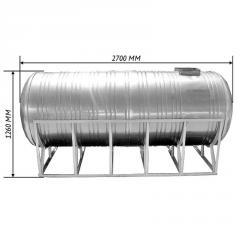 Емкость двойная для воды 2,0 м3 горизонтальная