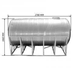 Емкость двойная для воды 3,0 м3 горизонтальная