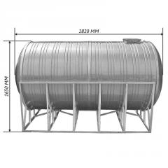 Емкость двойная для воды 4,0 м3 горизонтальная