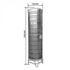 Емкость для воды двойная вертикальная 1,0 м3