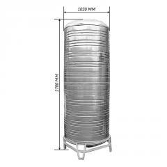 Емкость для воды двойная вертикальная 2,0 м3