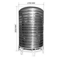 Емкость для воды двойная вертикальная 6,0 м3