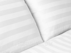 Bedding set from sateen strayp