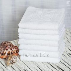 Полотенце махровое белое для лица 50х90см...