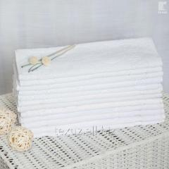 Полотенце махровое белое для ног 50х70см...