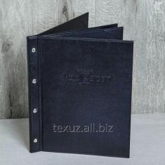 Листы для папки меню кожаные