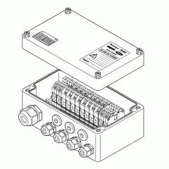 Проходная коробка (7xM25 + 1xM32) JB-MB-26/16MM2