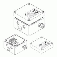 Однофазная соединительная коробка (1xM25 + 3xM20)