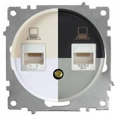 Розетка двойная компьютерная RJ45 кат.5e (серия