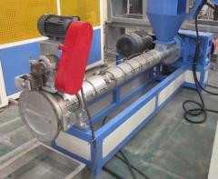 Одношнековый гранулятор полимеров с