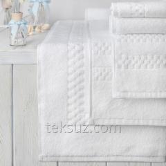 Люксовые полотенца 70х140см с орнаментом Checkerboard