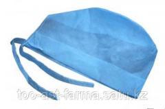 Медицинская шапочка-колпак плотность 40гр/м2