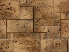 Travertine, Natural construction materials and