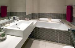 Table-tops for a bathroom