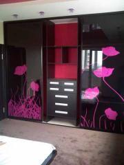 Шкаф-купе, двери с пескоструйным рисунком