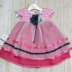 Платье детское р-ры: 6-9 мес, к-во: 2 шт /уп,
