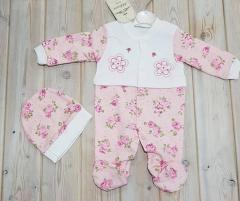 Одежда для новорожденных от 3 до 9 мес 3 шт в уп,