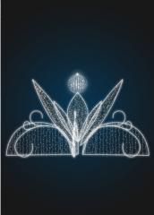 Световой фонтан Кувшинка (подиум в комплекте)