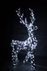 Светящийся олень в мишуре,  серия 2, 3 м, ...