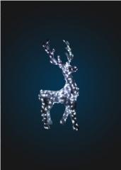 Светящийся олень в мишуре,  серия 2, 5 м, ...
