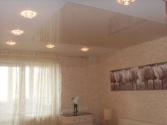 Stretch ceilings glossy