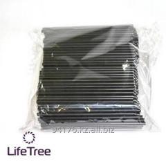 Трубочки для коктейля прямые, черные, пластиковые