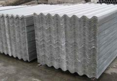 Slate in Atyrau. Slate asbestos-cemen