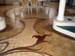 The parquet is type-setting