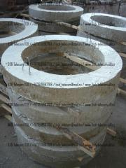 Rings are reinforced concrete, hatches reinforced