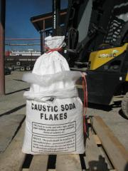 The caustic soda, caustic soda