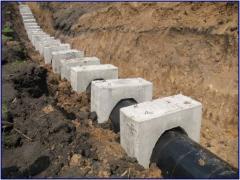 Утяжелители бетонные, магистральных трубопроводов,