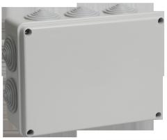 Коробка КМ41244 распаячная для о/п 190*140*70 мм ІР55 (RAL7035. 10 гермовв UKO11-190-140-070-K41-55