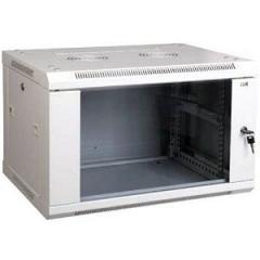 Шкаф LINEA W 6U 600х450 мм дверь стекло, RAL9005 LWR5-06U64-GF ITK
