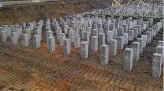 Ferroconcrete piles