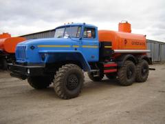 Автоцистерны для нефти АЦН-11 УРАЛ-5557, нефтевозы