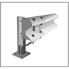 Одностороннее мостовое ограждение МО 11МО-2,5-300 кДж У4