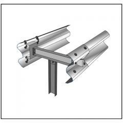 Двустороннее мостовое ограждение МД 11МД-1,33-550 кДж У9