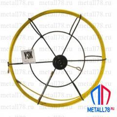 Протяжка для кабеля 4,5 мм 25 м в большой кассете (протяжка кабельная, мини УЗК)