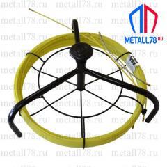 Протяжка для кабеля 4,5 мм 200 м на основании Spider+кассета max (протяжка кабельная, мини УЗК)