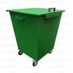 Контейнер для мусора 0,66 м3 в комплектации «Люкс»