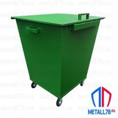Контейнер для мусора 0,75 м3 в комплектации «Стандарт»