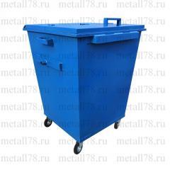 Контейнер для мусора 0,75 м3 с двойной крышкой