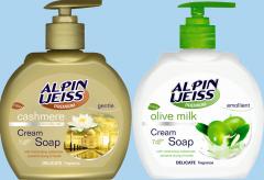 Liquid cream-soap