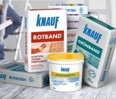 Строительные сухие смеси Knauf, Bergauf и др