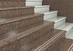 Steps, from a natural stone (granite)