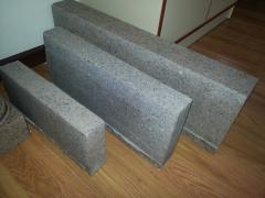 Border from a natural stone (Granite)