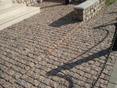 Stone blocks from granite