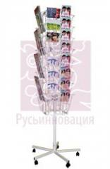 Stands, support for brochures (bukletniyets) of